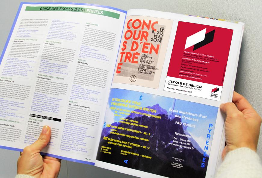 publicité pour L'École de design Nantes Atlantique