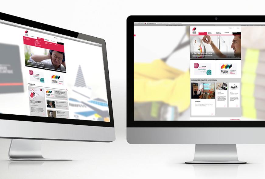 Site web de L'École de design Nantes Atlantique