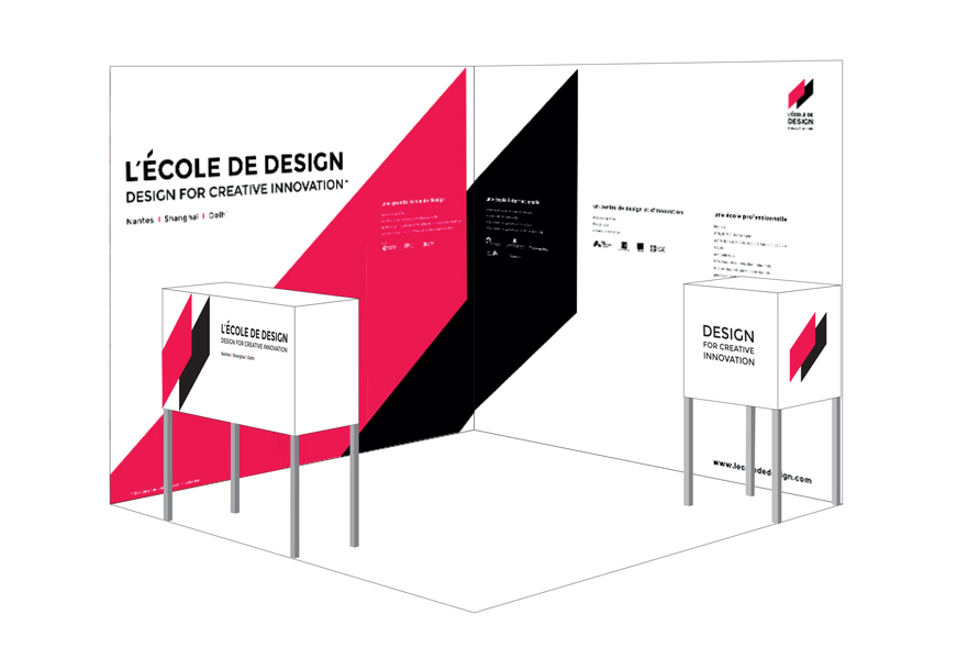 Stand de L'École de design Nantes Atlantique