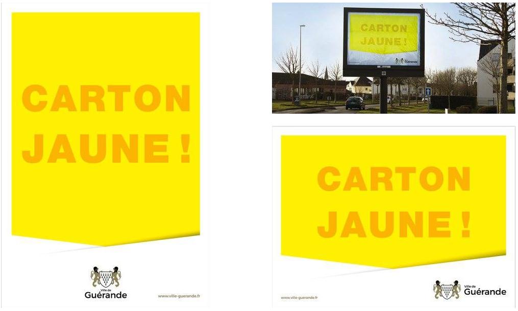 campagne de communication carton jaune