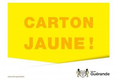 carton jaune - Ville de Guérande
